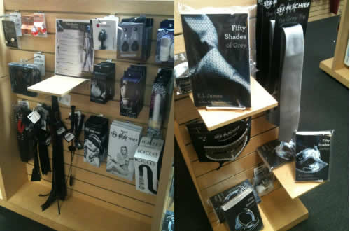 Fifty Shades Book & Accessories Display