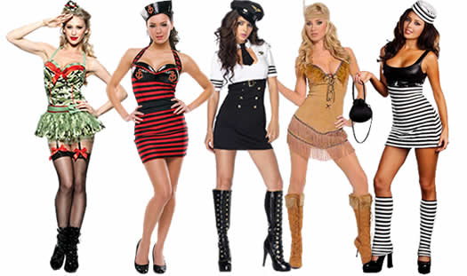 These sexy costumes cover up just enough and hug your curves so you look fabulous.