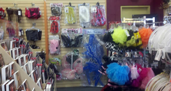 Wings, Tutus, Petticoats, & Hosiery to create or complement your sexy costume.