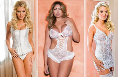 Bridal Lingerie - Girls in White Lingerie