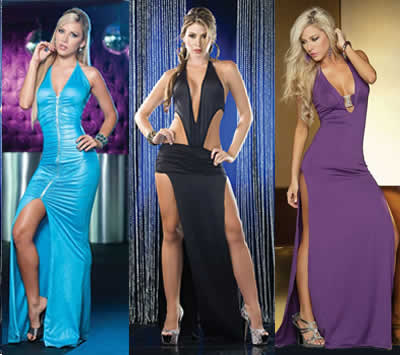 Looking sexy in these Espiral Long Gowns