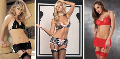 Lingerie with garter belt